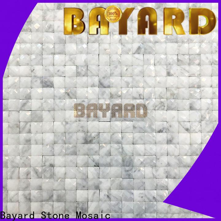 Bayard white blue mosaic floor tile marketing for wall decoration