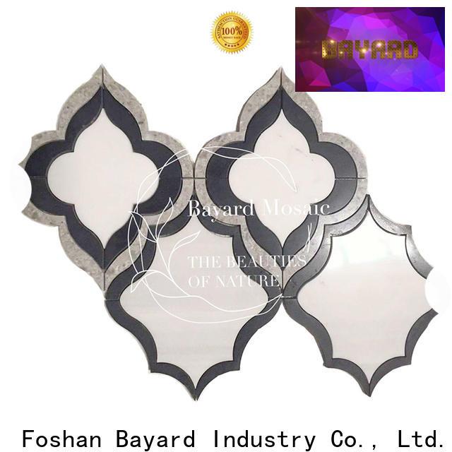 Bayard elegant water jet marble design vendor for foundation