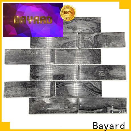 Bayard new arrival clear glass mosaic tiles supplier for bathroom
