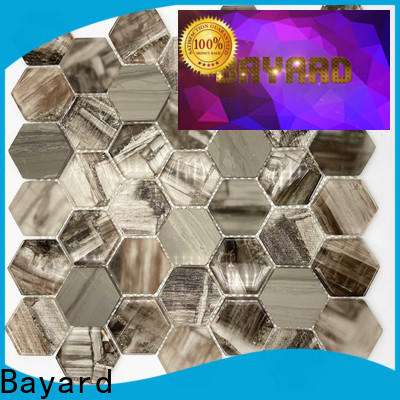 Bayard white clear glass mosaic tiles newly for foundation