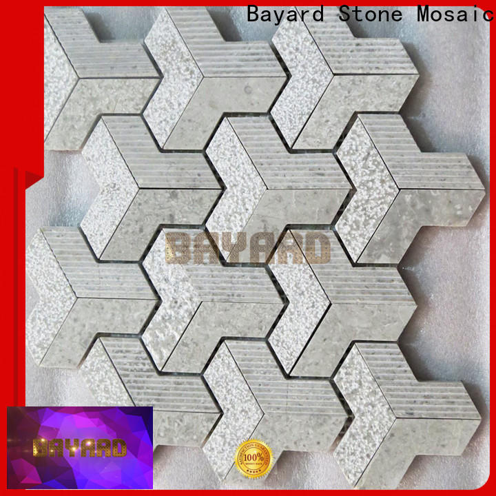Bayard stone marble mosaic floor tile supplier for foundation
