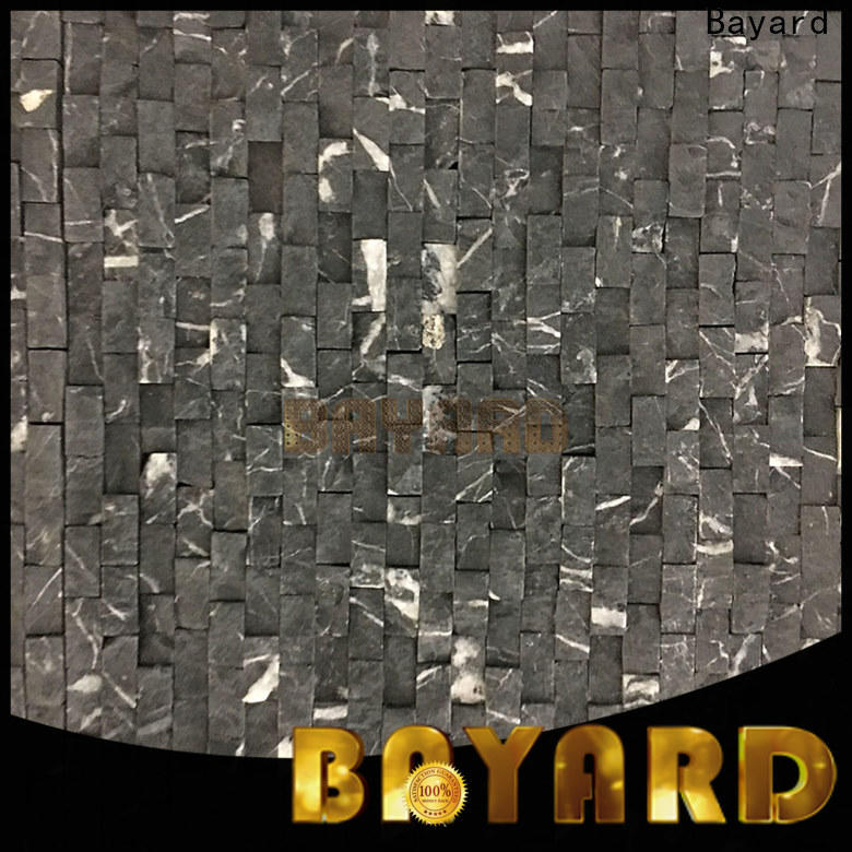 Bayard cool black marble mosaic tile supplier for bathroom