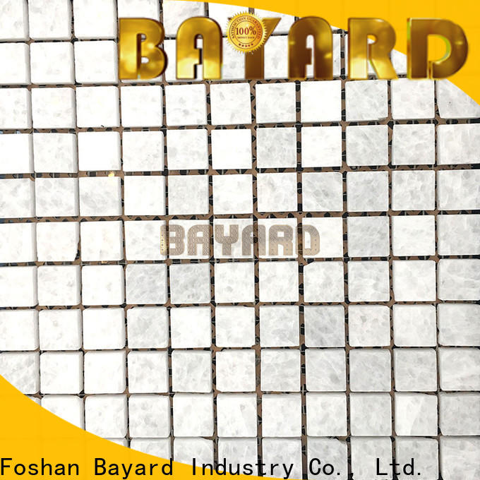 Bayard rectangle italian mosaic tile in different shapes for hotel lobby