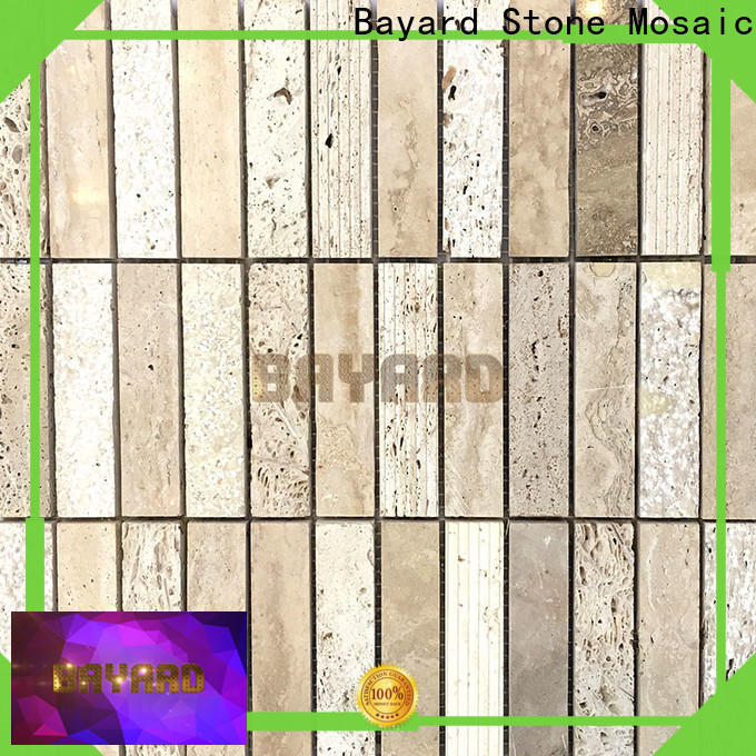 Bayard professional grey stone mosaic tiles supplier for foundation