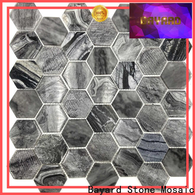 Bayard good-looking sea glass mosaic tile supplier for decoration