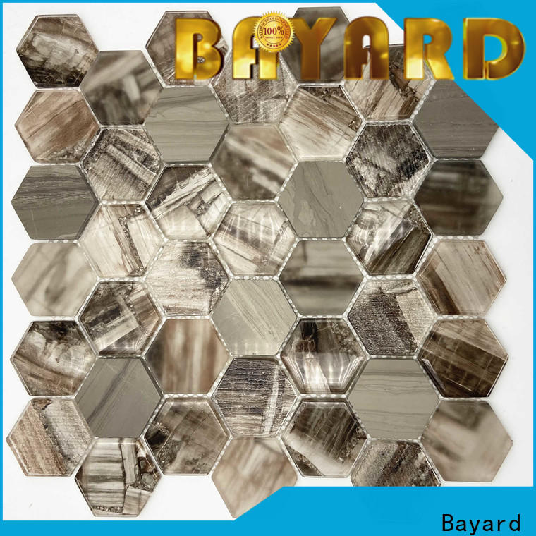 high-end Glass mosaic wooden dropshipping for bathroom