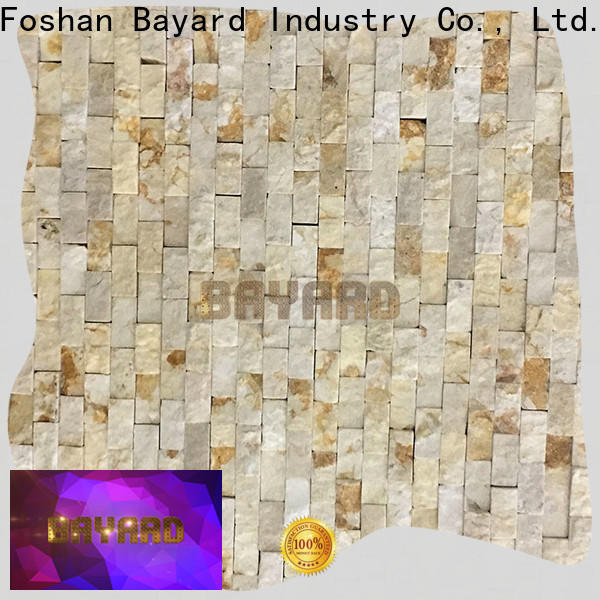 Bayard tiles black marble mosaic tile in different shapes for bathroom