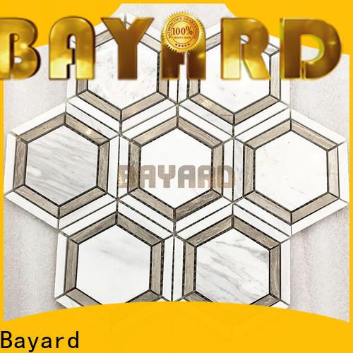 Bayard white rectangle mosaic tiles owner for foundation