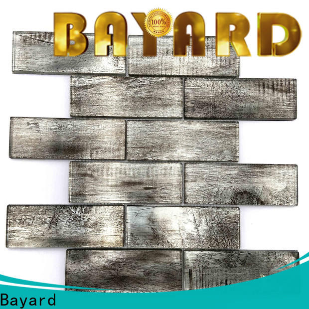 Bayard glass black glass mosaic tiles factory price for foundation