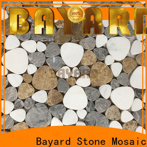 Bayard silver mosaic tile supplies for wholesale for foundation