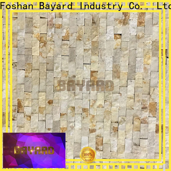 Bayard upscale black marble mosaic tile in different shapes