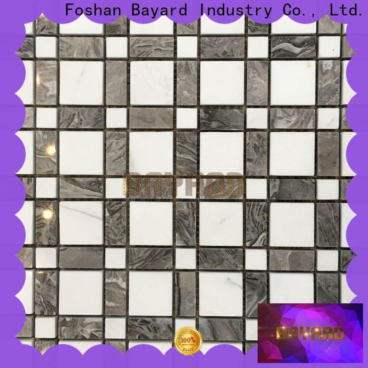 Bayard depot dark grey mosaic tiles in different shapes for bathroom