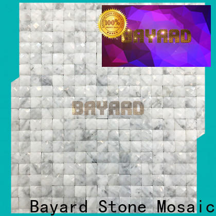 Bayard black and silver mosaic tiles grab now for hotel lobby