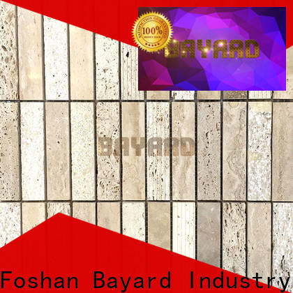 Bayard professional black mosaic tile backsplash for wholesale for hotel lobby