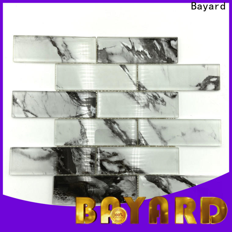 Bayard new arrival iridescent glass mosaic tile for wholesale for hotel lobby