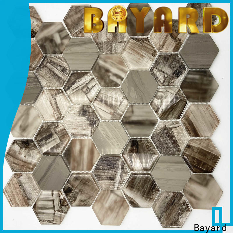 high-end black glass mosaic tiles karrara supplier for bathroom