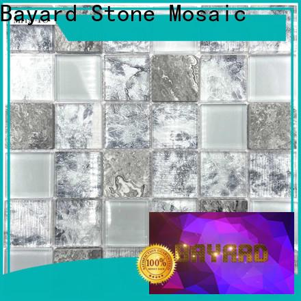 Bayard volakas clear glass mosaic tiles factory price for hotel lobby