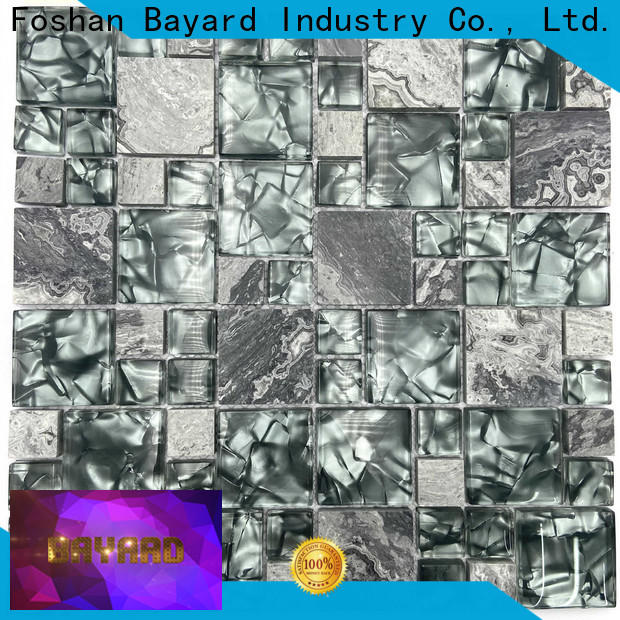 Bayard color clear glass mosaic tiles factory for foundation