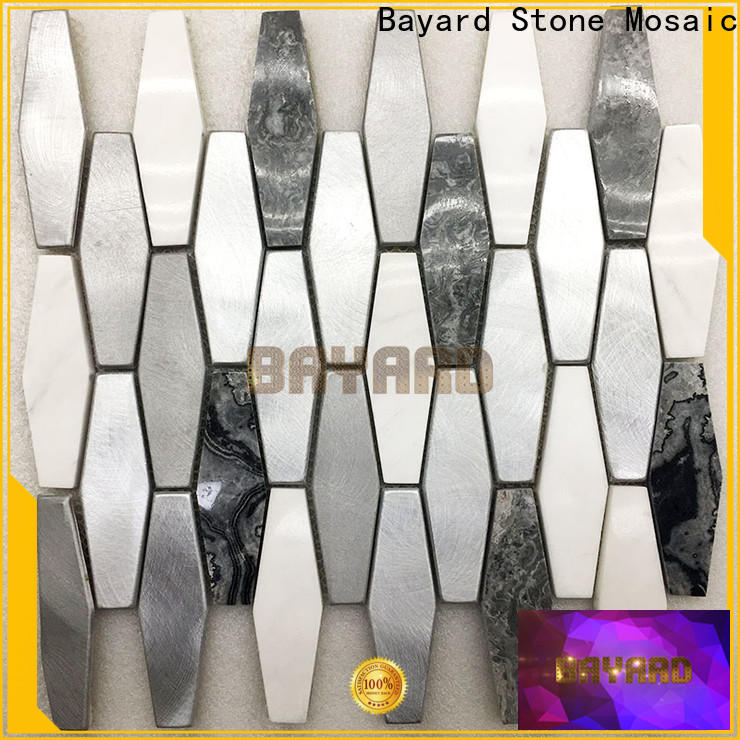 glossy round mosaic tiles flower for wholesale for foundation