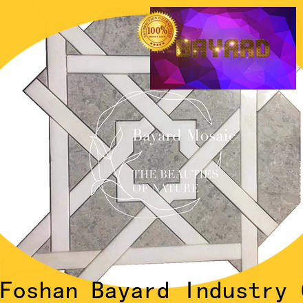 Bayard high-end waterjet marble tile for wholesale for foundation