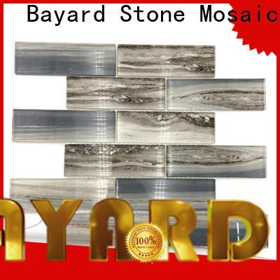 Bayard grey blue glass mosaic tile for foundation