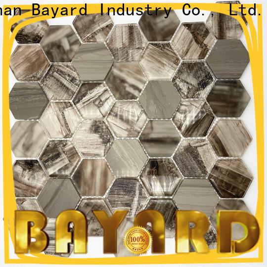 Bayard high quality green glass mosaic tiles vendor for decoration