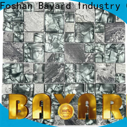 Bayard iron green glass mosaic tiles in china for decoration