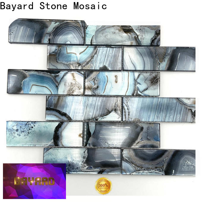Bayard blue green glass mosaic tiles for wholesale for hotel lobby