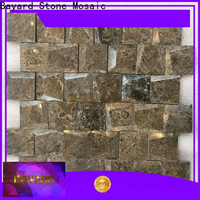 Bayard grey marble mosaic tile vendor for supermarket
