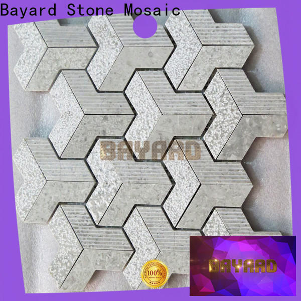 fashion design glass and stone mosaic tile round in china