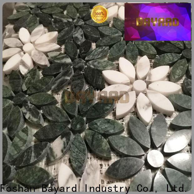 Bayard effect marble mosaic floor tile factory for hotel lobby