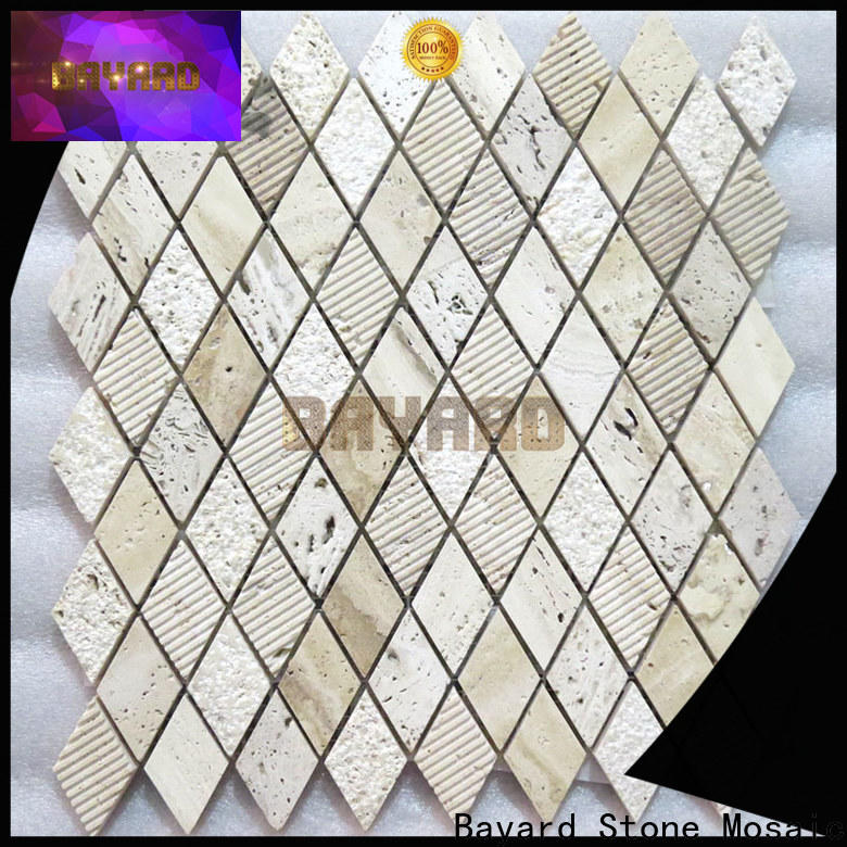 Bayard wall travertine mosaic tile backsplash order now for bathroom