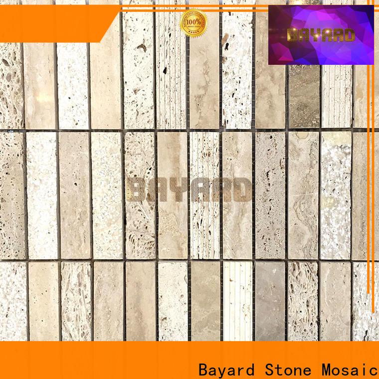 Bayard professional grey stone mosaic tiles vendor for bathroom