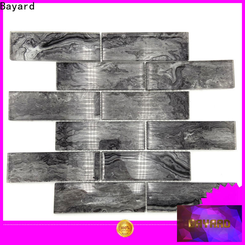 Bayard imitated blue glass mosaic tile for wholesale for bathroom