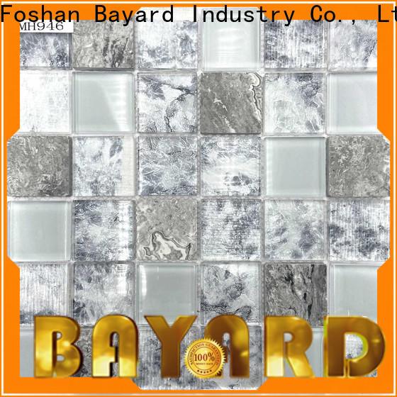 Bayard black glass mosaic tiles order now for decoration