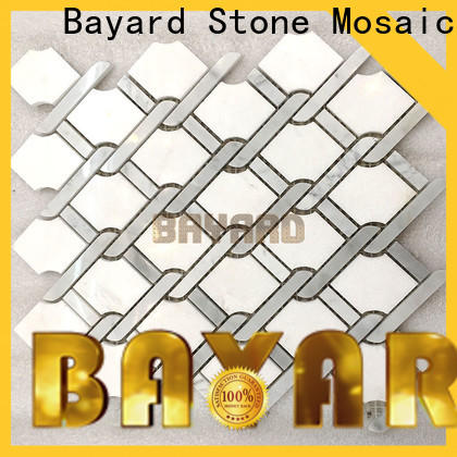 professional mosaic tile splashback emperador dropshipping for hotel lobby