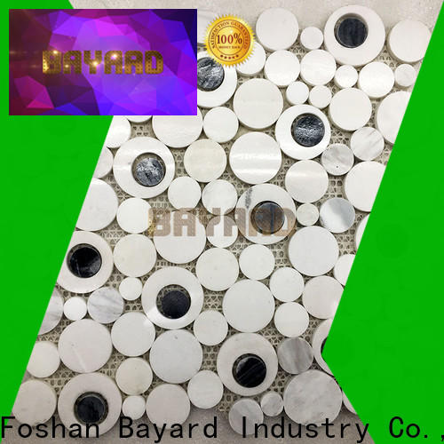glossy metal mosaic tiles chips vendor for hotel lobby