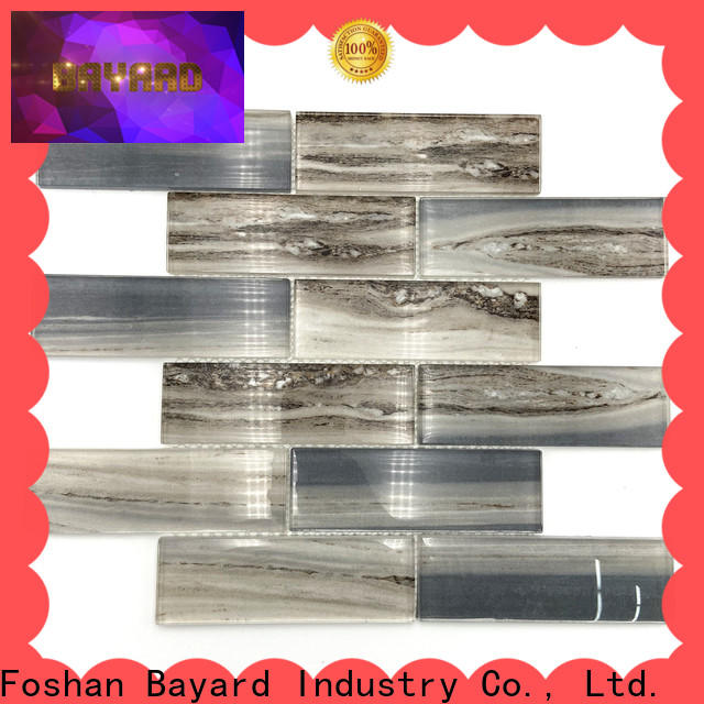 Bayard volakas clear glass mosaic tiles supplier for hotel lobby