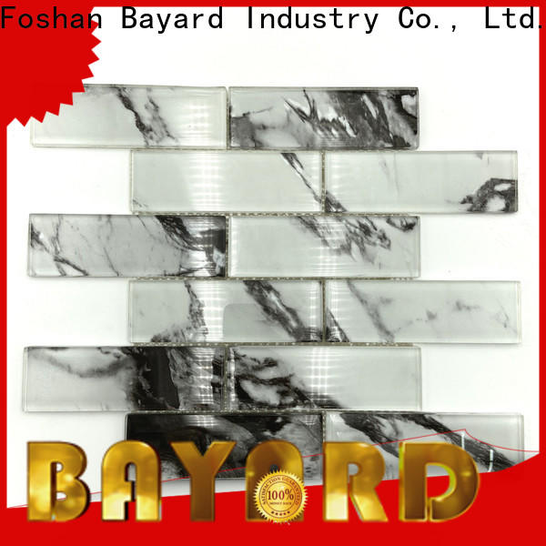 Bayard brick glass mosaic tile factory price for foundation