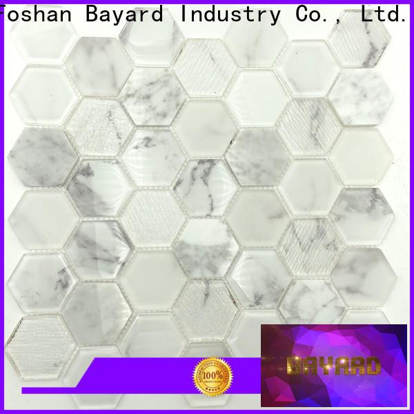 affordable glass mosaic tile backsplash black for wholesale for bathroom