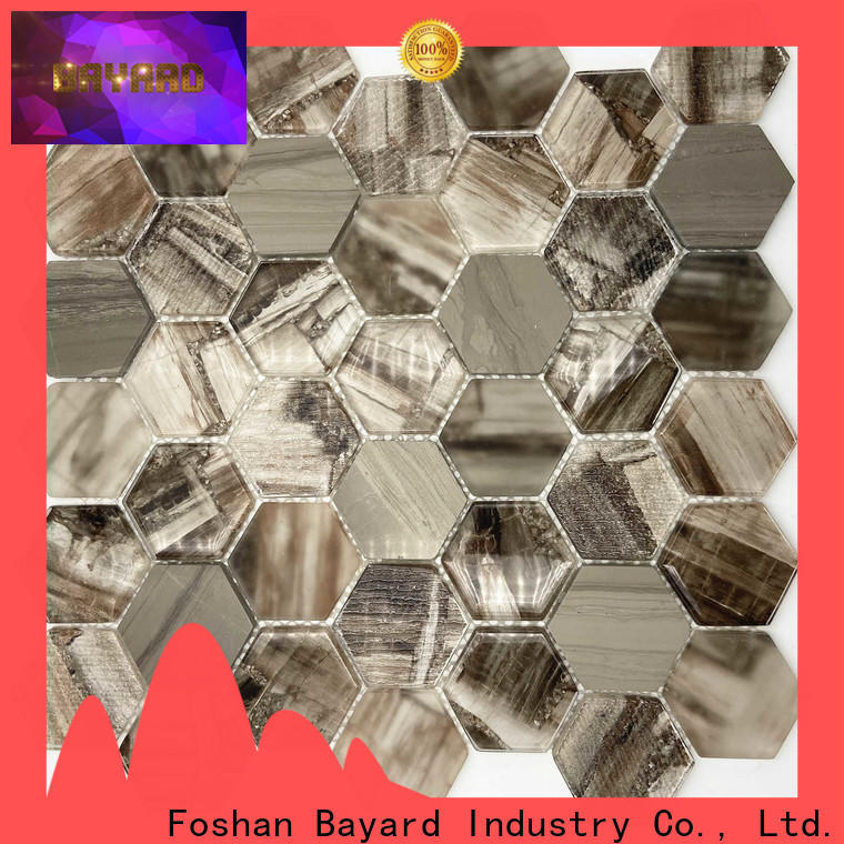 new arrival black glass mosaic tiles wooden supplier for decoration