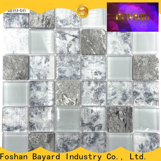 Bayard affordable clear glass mosaic tiles dropshipping for bathroom
