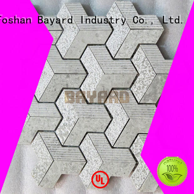 silver grey mosaic tiles chips for wall decoration Bayard