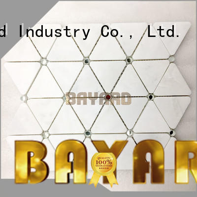 Bayard mix black and silver mosaic tiles factory price for wall decoration