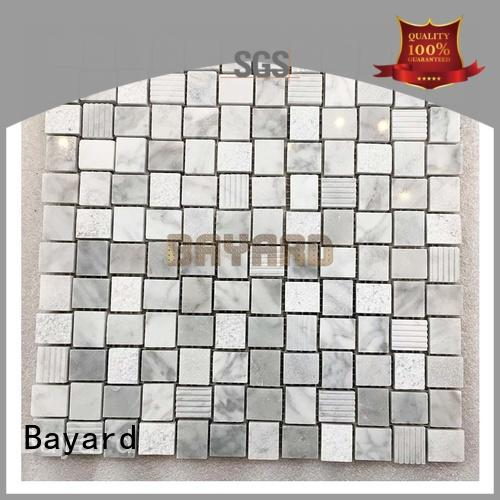 Anti-slip light grey mix white marble mosaic tiles mosaic bathroom tiles AM306GL