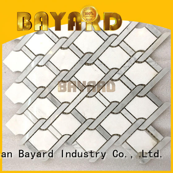 Bayard elegant gray mosaic tile backsplash factory price for hotel lobby