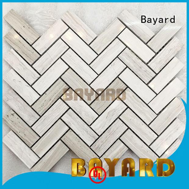 emperador mosaic flooring mix for TV wall Bayard
