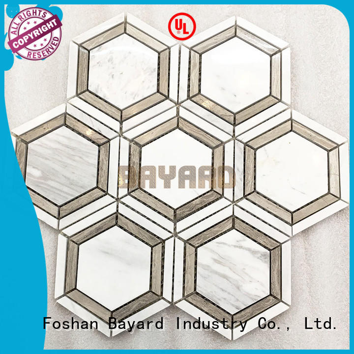 Bayard upscale 2x2 ceramic mosaic tile owner for wall decoration