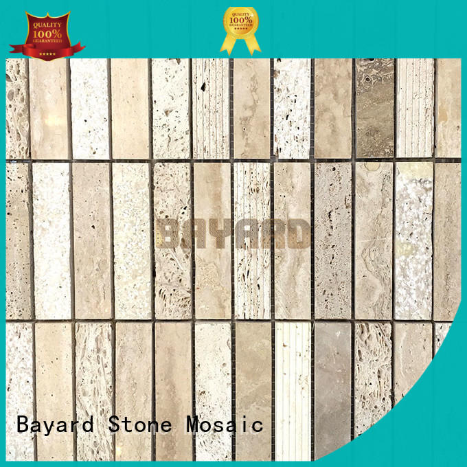 Bayard professional travertine and glass mosaic tile wall for decoration