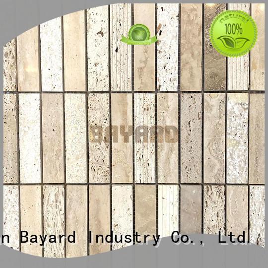 durable travertine brick mosaic tile supplier for decoration Bayard